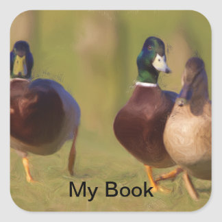 Wild Bird Bookplates Square Sticker