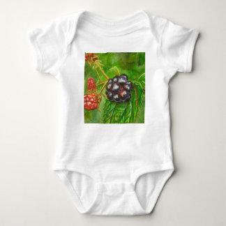 Wild Blackberries ripening in Summer Baby Bodysuit