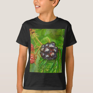 Wild Blackberries ripening in Summer T-Shirt