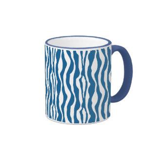 Wild Blue Zebra Print Mug
