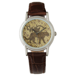 Wild Cheetah Big Cat Lover Watch