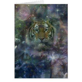 Wild Eyes Tiger Crouching Beautiful Card