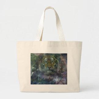 Wild Eyes Tiger Crouching Beautiful Large Tote Bag