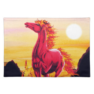 Wild Fire Horse American MoJo Placemats