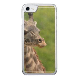 Wild Giraffe Carved iPhone 7 Case