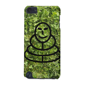 Wild grass and clover texture with meditation man iPod touch 5G case