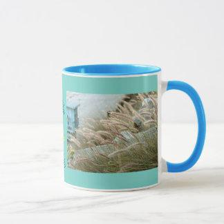 Wild grasses on Malibu beach California Mug