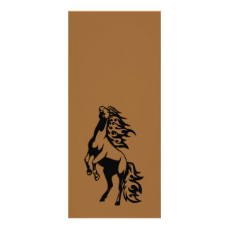 WILD HORSE ICON LOGO REARING ANIMALS POWERFUL RACK CARD