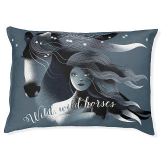 Wild Horses Dog Bed