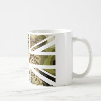 Wild Leopard Face Jack British(UK) Flag Coffee Mug