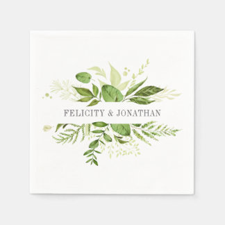 Wild Meadow | Botanical Personalized Wedding Disposable Napkin