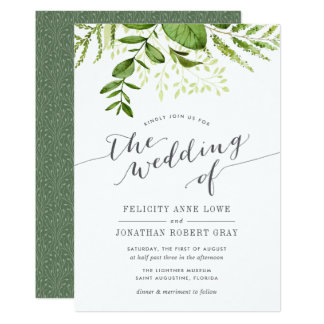 Wild Meadow Botanical Wedding Invitation