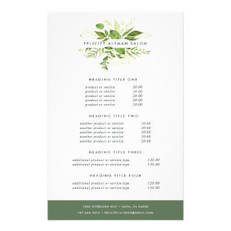 Wild Meadow Pricing & Services 14 Cm X 21.5 Cm Flyer