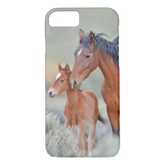 Wild Mustang Mare with her Colt in Nevada iPhone 7 Case