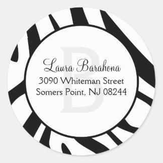 Wild Nights Zebra Print Custom Envelope Seals Round Sticker
