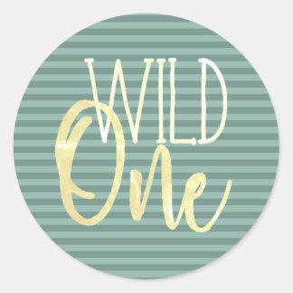 Wild One Birthday Sticker