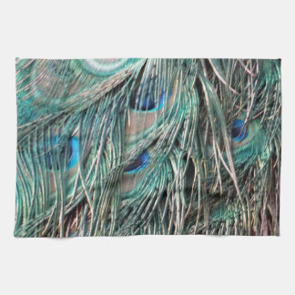 Wild Peafowl Feather Eyes Tea Towel