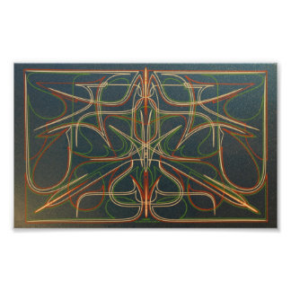 Wild Pinstriping Symmetry Poster