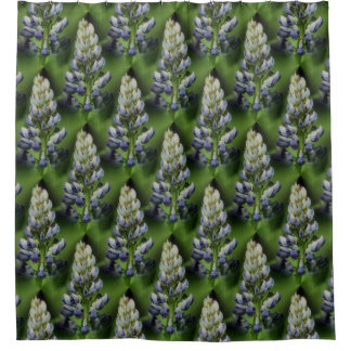 Wild Purple Lupine Floral Nature Pattern Shower Curtain