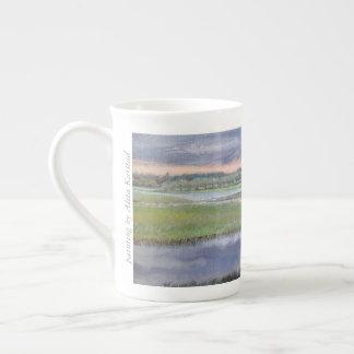 Wild Rice and Sweet Rush - bone china mug