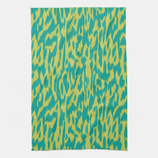Wild Side-Teal & Chartreuse Tea Towel