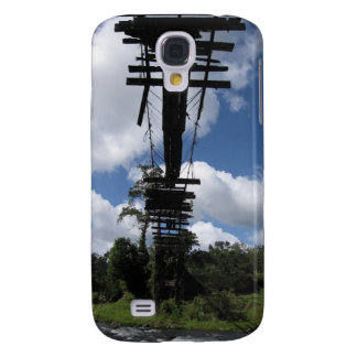 Wild South America - Vintage Bridge n River Galaxy S4 Case