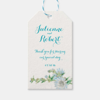 """Wild succory vintage wedding """"Thank You"""" favour Gift Tags"""