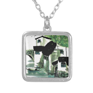 wild village silver plated necklace