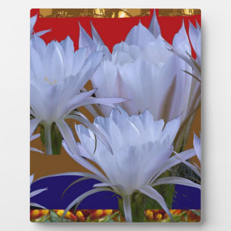 Wild White Lilly Flower :  Amazing world of nature Plaque