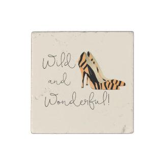 Wild Wonderful Heels Stone Magnet