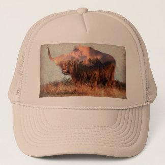 Wild yak - Yak nepal - double exposure art - ox Trucker Hat