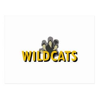 WILDCATS CLAW POSTCARD