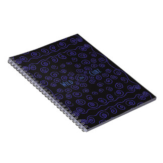 WildCubz blue squiggle photo book Note Book
