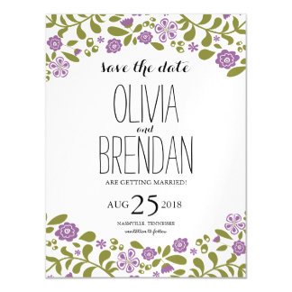 Wildflower Blossoms | Save the Date Magnetic Invitations