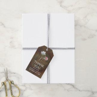 Wildflower Oak Wood Wedding Gift Tags