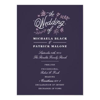 Wildflower Wedding Program