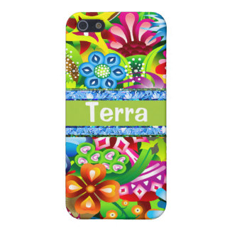 Wildflowers In Vivid Colors Personalized iPhone 5/5S Cases