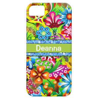 Wildflowers In Vivid Colors Personalized iPhone 5 Covers