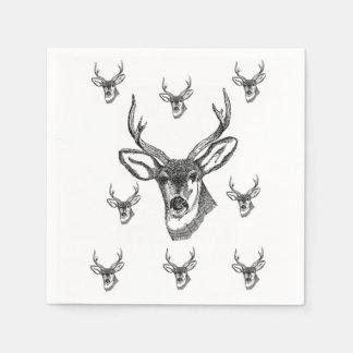 Wildlife reindeer hunting bachelor party napkins paper napkin