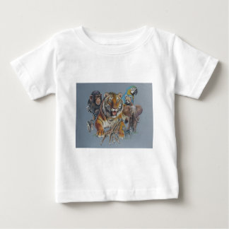 Wildlife Safari Portrait Baby T-Shirt