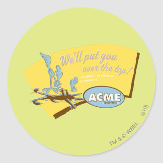 Wile E Coyote and ROAD RUNNER™ Acme Classic Round Sticker