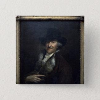 Wilhelm Friedemann Bach, c.1760 15 Cm Square Badge