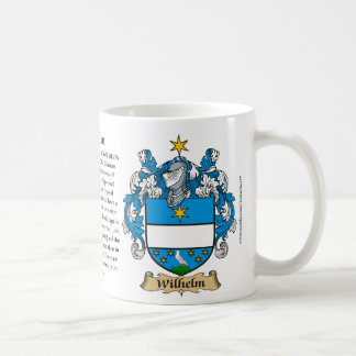 Wilhelm, the Origin, the Meaning and the Crest Coffee Mug