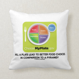 Will A Plate Lead To Better Food Choices Pyramid Pillows