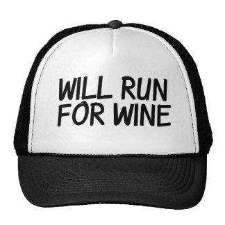 Will run for wine cap