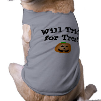 Will Trick for Treat Sleeveless Dog Shirt