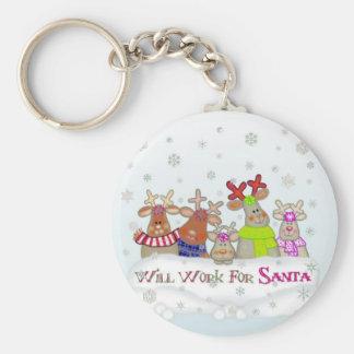 Will Work For Santa Key Chain