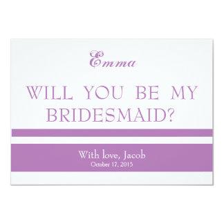 Will You Be My Bridesmaid 11 Cm X 16 Cm Invitation Card