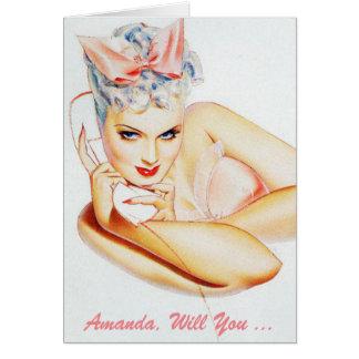 will you be my bridesmaid ? be my bridesmaid note card