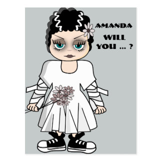 will you be my bridesmaid ? be my maid of honor postcard